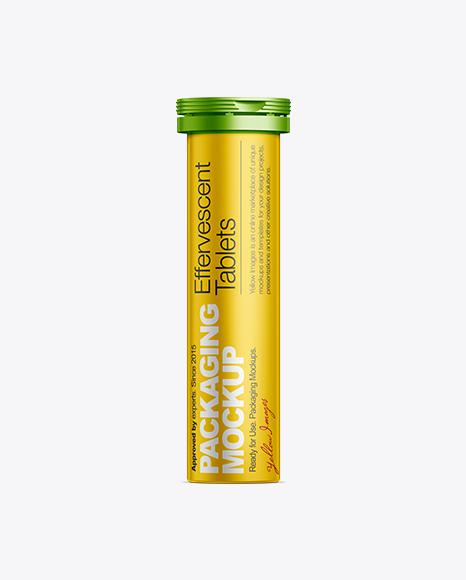 Download 10 Effervescent Tablets Medical Bottle Object Mockups