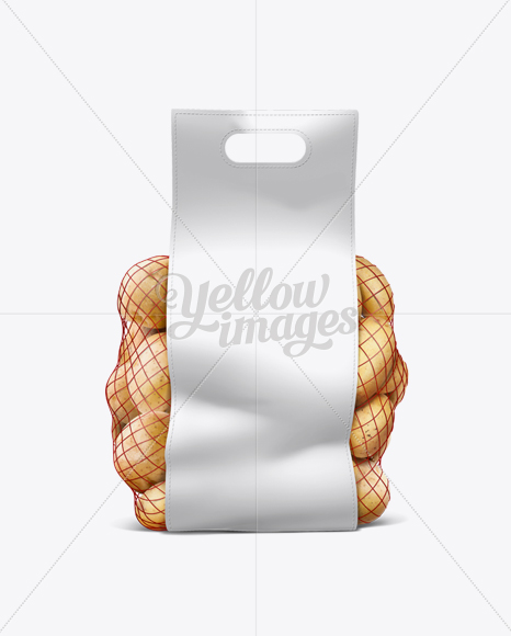 Download Net Bag With Potato Object Mockups