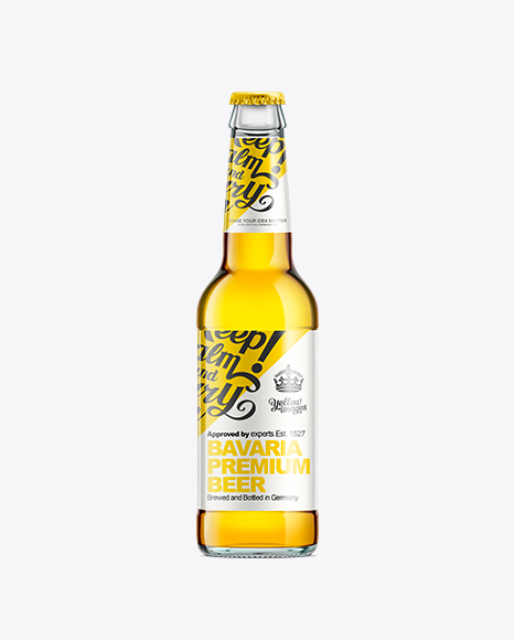 Download Download Psd Mockup 330Ml Ale Beer Bottle Clear Deep Amber ...