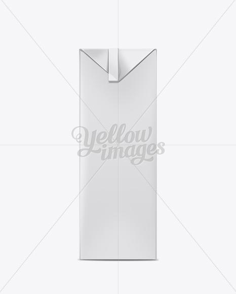 Download 1000ml Milk Carton Package Mockup Object Mockups