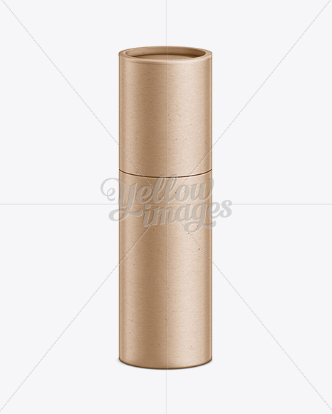 Kraft paper telescopic tube mockup in tube mockups on for Kraft paper craft tubes