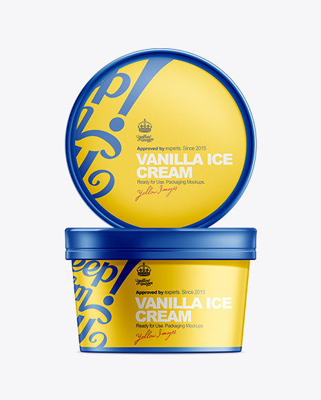 Download 16oz Ice Cream Container Mockup Object Mockups