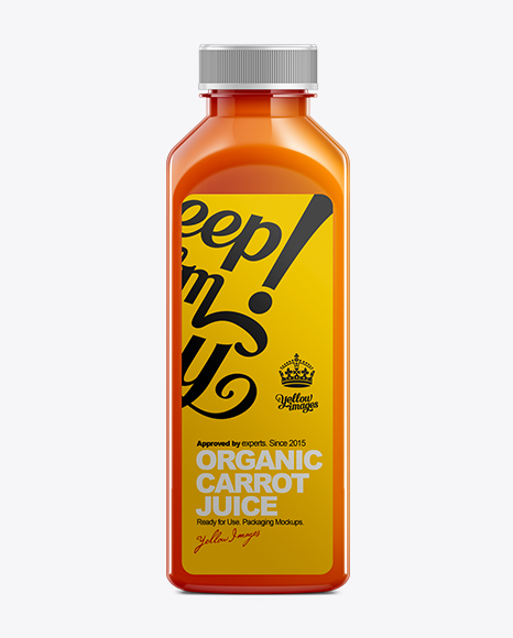 500ml plastic juice bottle mockup in bottle mockups on yellow images
