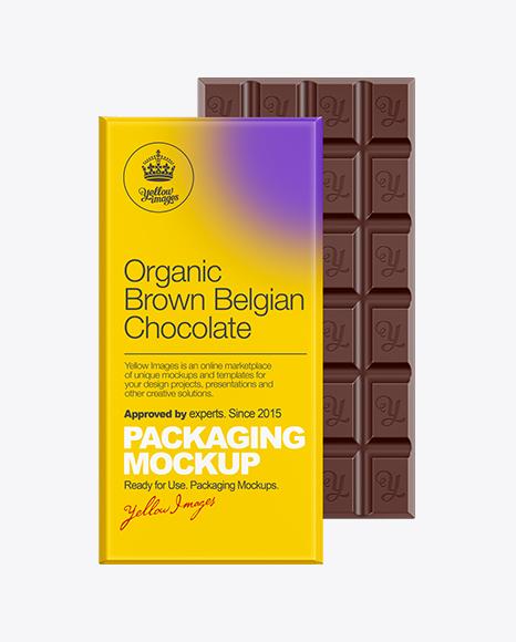 Chocolate Bar Packaging Mockup Packaging Mockups Free Download