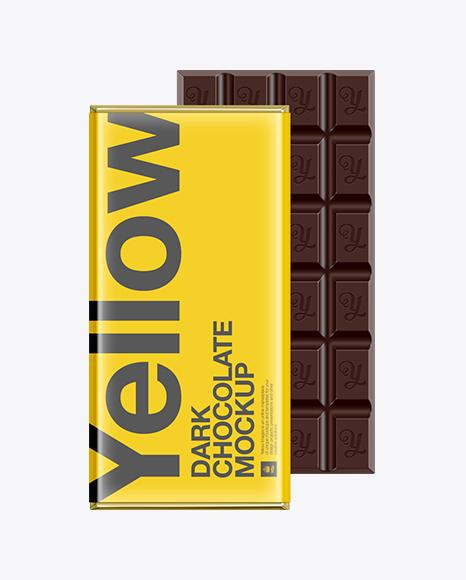 Download Dark Chocolate Bar Packaging Mockup Object Mockups