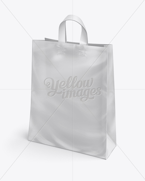 Plastic Shopping Bag W/ Loop Handles Mockup