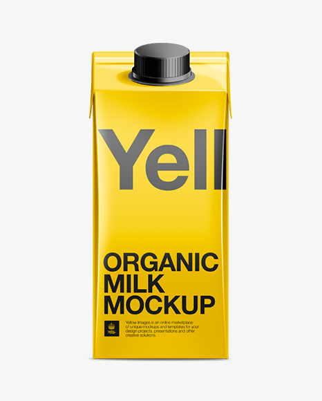 Download 200ml Milk Carton Package Mockup Object Mockups