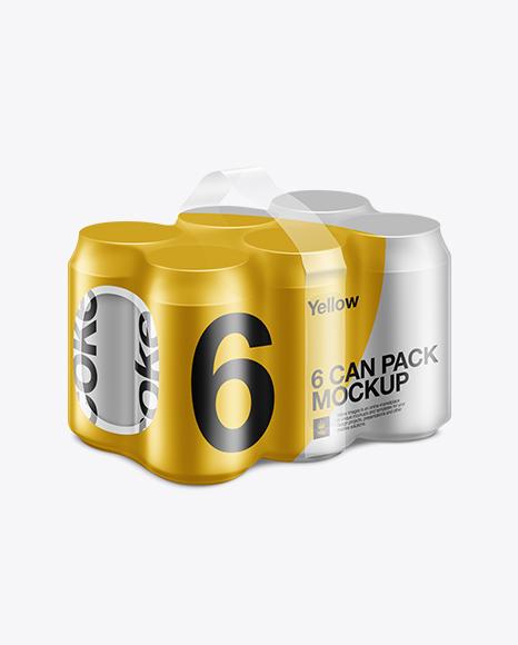 Download Download Psd Mockup 330ml Mock Up 6 Pack Aluminium Aluminum Beer Beverage Can Carbonated Cola Cold PSD Mockup Templates