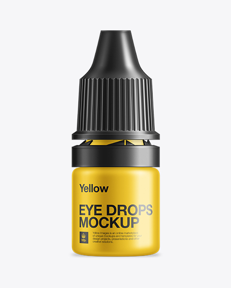 Download Eye Drops Bottle W/ Child Resistant Overcap Mockup Object Mockups