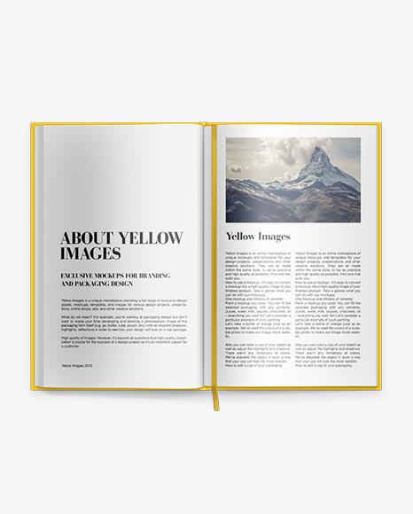 Download Yellow Book Mockup Free Download Mockup PSD Mockup Templates