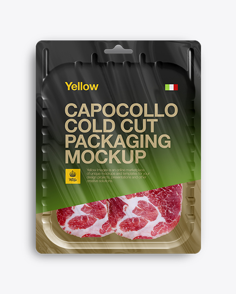 Download Vacuum Tray W/ Sliced Capicola Mock-up Object Mockups