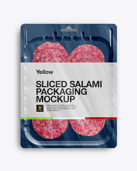 Download Vacuum Tray W/ Sliced Classic Salami Mock-up Object Mockups