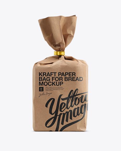 Small Kraft Paper Bag For Bread Mockup In Bag & Sack