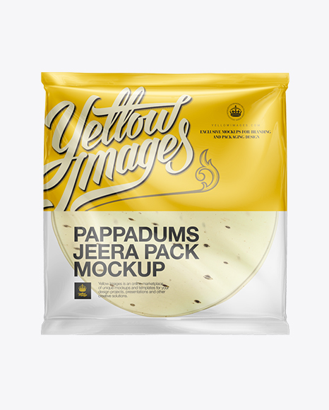 Download Jeera Pappadum Packaging Mockup Object Mockups