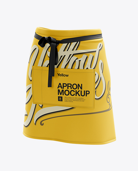 Download Half Apron Mockup - Halfside View Object Mockups