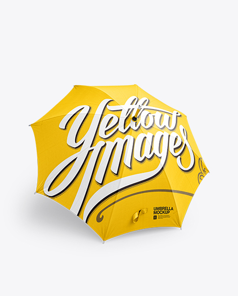 Download Open Umbrella Mockup - Front 3/4 View Object Mockups