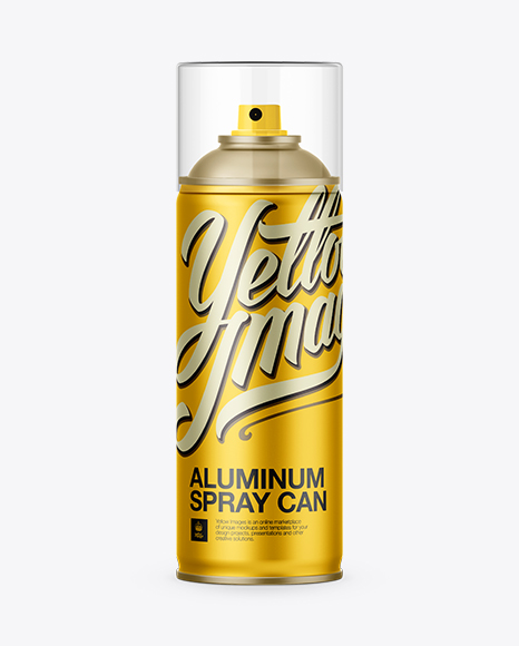Download Aluminum Spray Can W/ Clear Cap Mockup Object Mockups