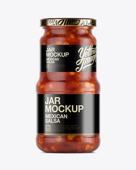 Download Mexican Salsa Jar Mockup Object Mockups