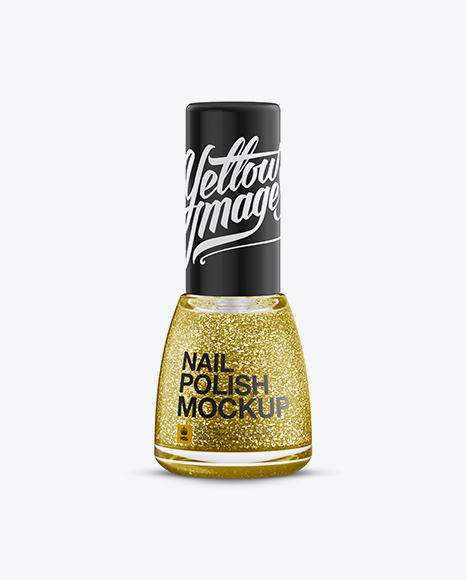 Download Sparkle Nail Polish Bottle Mockup Object Mockups