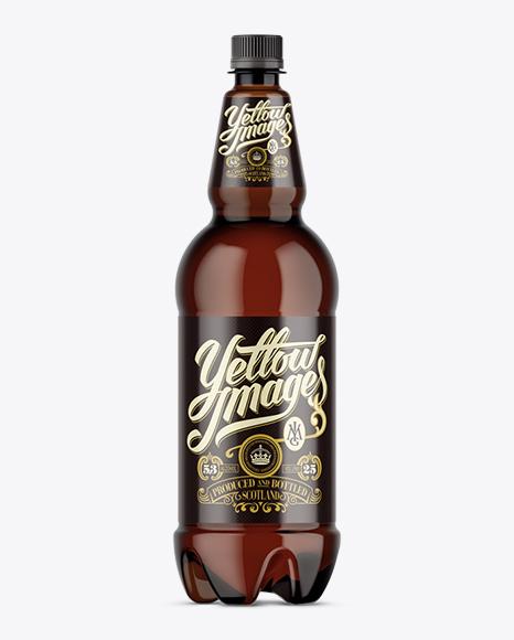 Amber Plastic Beer Bottle Mockup In Bottle Mockups On