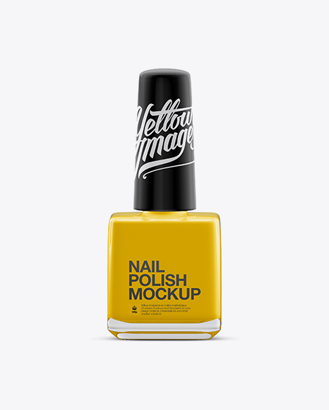Download Glossy Nail Polish Square Bottle Mockup Object Mockups