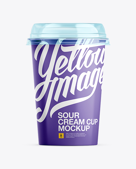 Download Sour Cream Cup Mockup Object Mockups