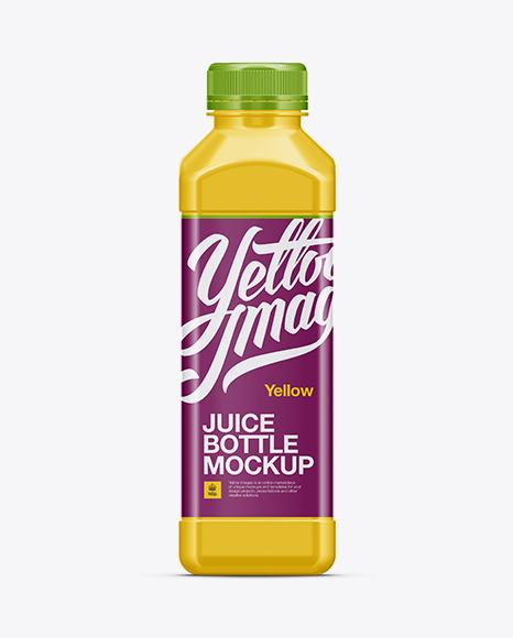 plastic juice bottle mockup in bottle mockups on yellow images