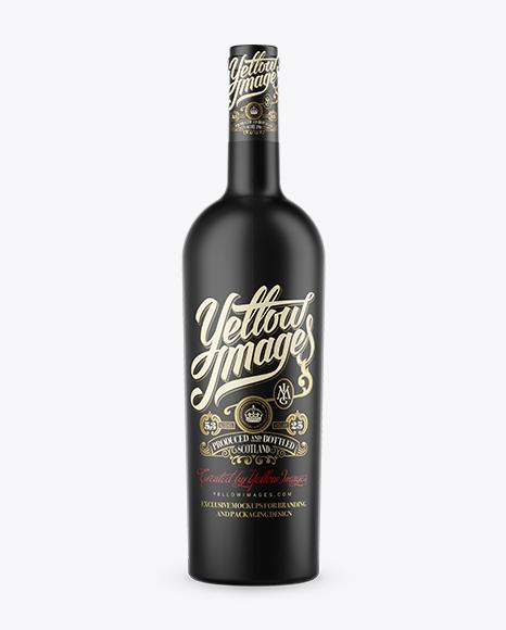 Download Matte Bordeaux Wine Bottle Mockup Object Mockups