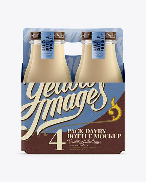 Download 4 Pack Bottle Carrier Psd Mockup Free Psd Mockup Milk Bottle Design Yellowimages Mockups