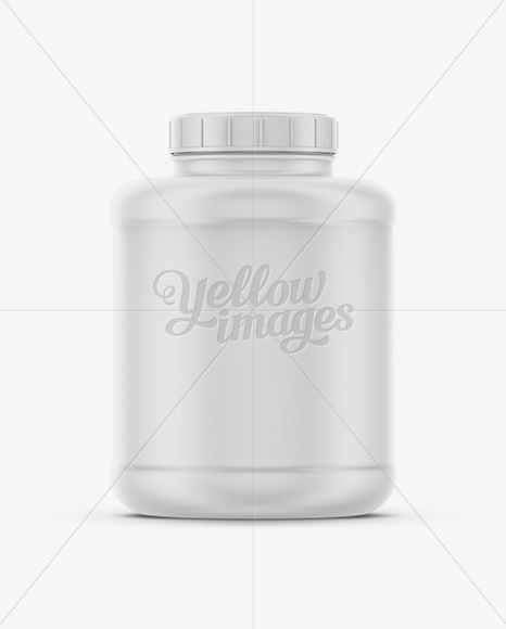 Matte Plastic Supplement Jar Mockup