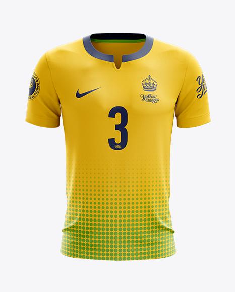 Download Soccer T-Shirt Mockup - Front View Object Mockups