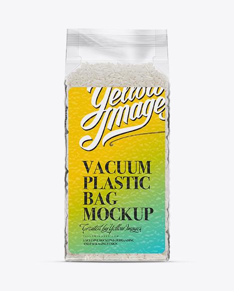Download Rice Vacuum Plastic Bag Mockup Object Mockups Free