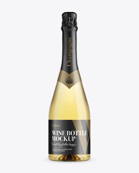 Download Champagne Bottle HQ Mockup - Front View Object Mockups