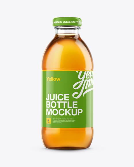 apple juice glass bottle mockup in bottle mockups on yellow images