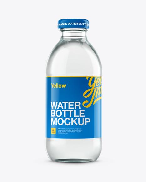 Download Glass Water Bottle Mockup Object Mockups