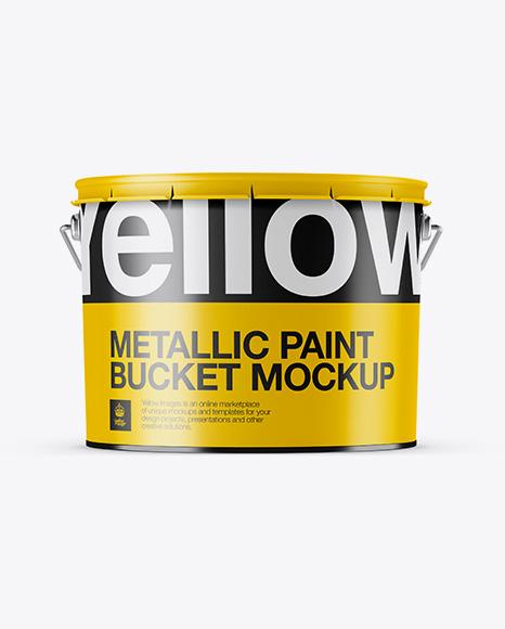 Download Metallic Paint Bucket Mockup - Eye-Level Shot Object Mockups
