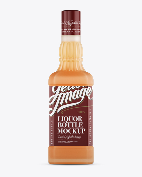Download Frosted Bottle W/ Cointreau Mockup - Front View Object Mockups