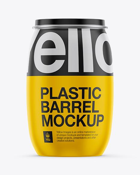 Download 130L Plastic Barrel Mockup Object Mockups