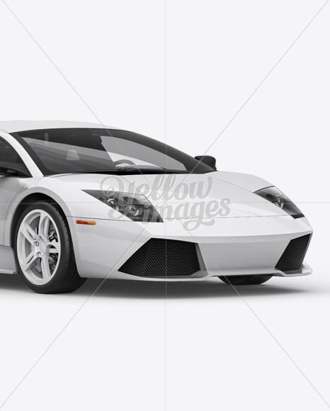 Lamborghini Murciélago Mockup Front 3/4 View