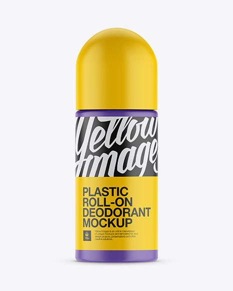 Download Plastic Matte Roll-On Deodorant Mockup Object Mockups