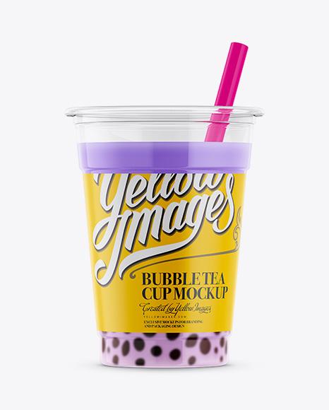 Download Taro Bubble Tea Cup Mockup Object Mockups