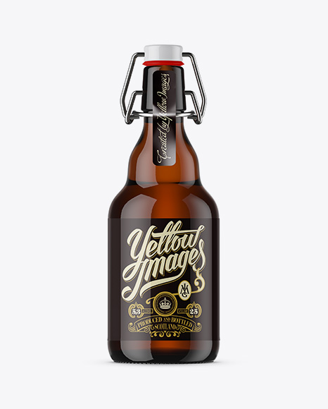 Download 330ml Amber Glass Beugel Bottle Mockup Object Mockups