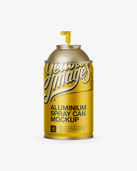 Download Aluminum Sprayer Without Cap Mockup Object Mockups
