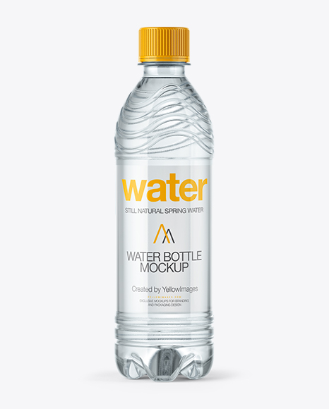 Pet Water Bottle Mockup In Bottle Mockups On Yellow Images