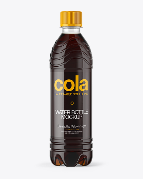 Download PET Bottle with Cola Mockup Object Mockups
