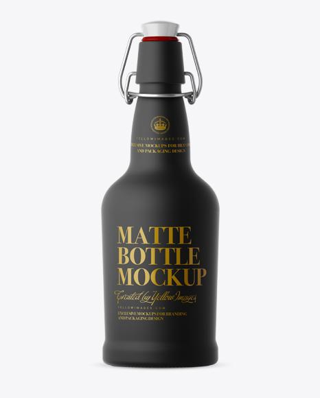 Download Black Matte Beugel Bottle Mockup - Front View Object Mockups