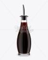Dark Soy Sauce Glass Bottle Mockup