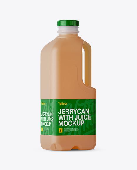 Download Frosted Plastic Juice Jug Mockup - Halfside View Object Mockups