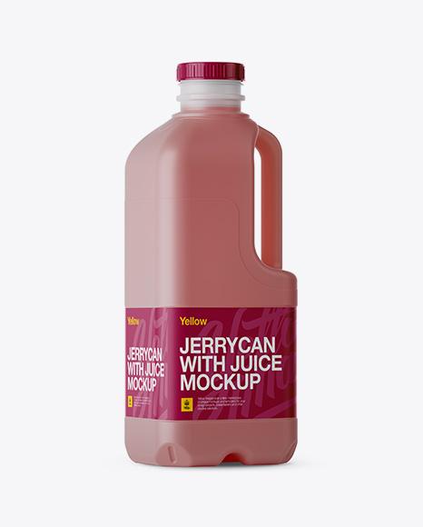 Download Plastic Red Juice Jug Mockup - Halfside View Object Mockups