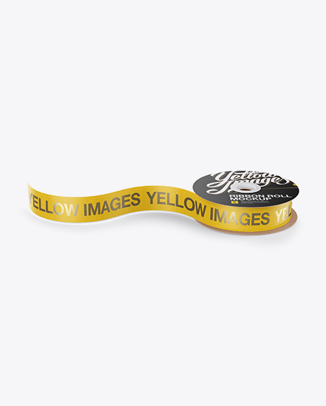 Download Printed Ribbon Roll Mockup - High-Angle Shot Object Mockups